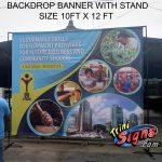backdrop banner stands